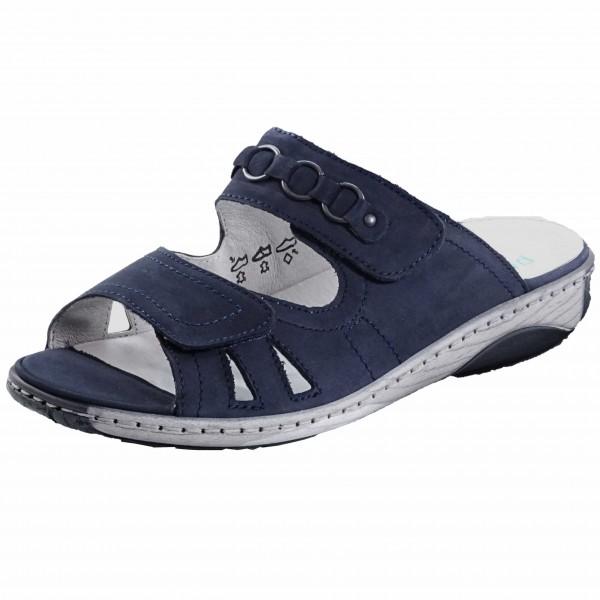 Bild 1 - Waldläufer Blaue Damenpantolette 210504-191/217 Garda