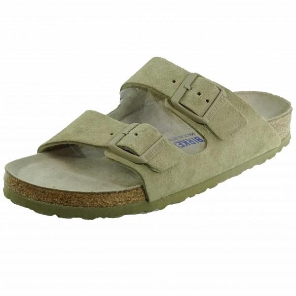 Bild 1 - Birkenstock Grüne Damenpantolette 1019088 Arizona Soft