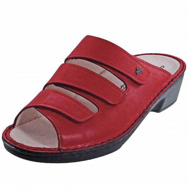 Bild 1 - Finn Comfort Rote Damenpantolette CANZO 02688-702147 Damen City