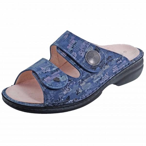 Bild 1 - Finn Comfort Blaue Pantolette SANSIBAR 02550-703454 Damen Classic