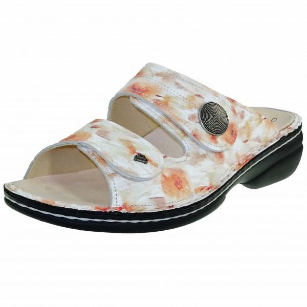 Bild 1 - Finn Comfort Apricot/Weiß Pantolette SANSIBAR 02550-700451 Damen Classic