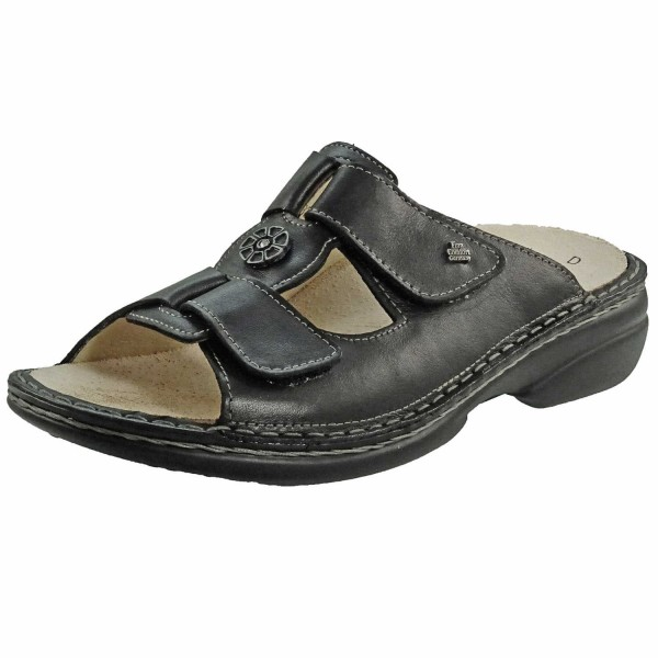 Bild 1 - Finn Comfort Schwarze Damenpantolette Pattaya 02558 014099 Damen Classic