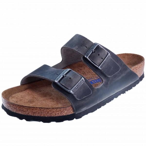 Bild 1 - Birkenstock Herren Fußbett Pantolette 552801 Arizona Softbed